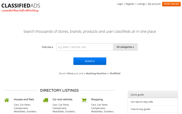 Bootstrap Classifieds
