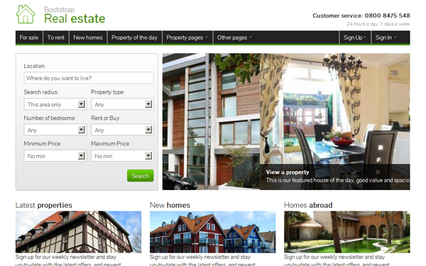 Bootstrap Real Estate